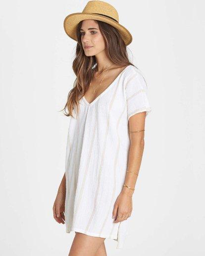 1 Palm Side Cover Up Dress White XV02LPAL Billabong
