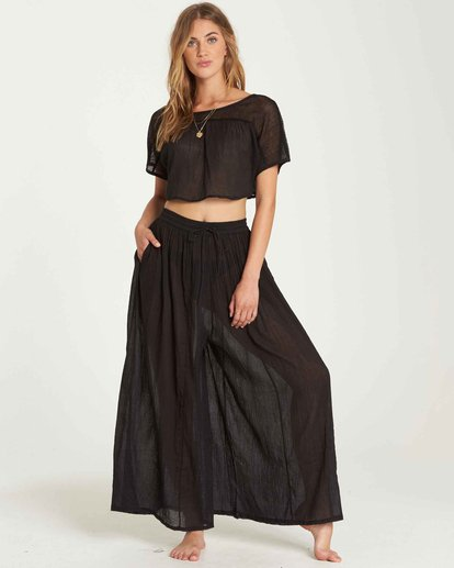 1 Back In Five Wide Leg Pant Black XV02QBBA Billabong