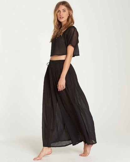 2 Back In Five Wide Leg Pant Black XV02QBBA Billabong
