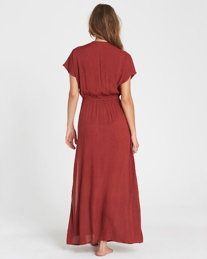 2 On The Sea Woven Cover Up Maxi Dress Red XV02SBON Billabong