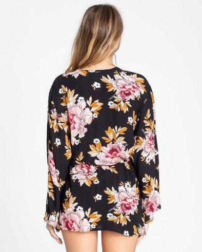 2 Ocean Sky Kimono Cover Up Black XV03TBOC Billabong