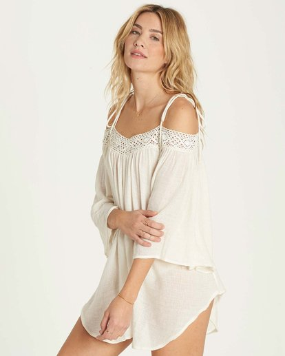 1 Breeze On Cover Up White XV04MBRE Billabong