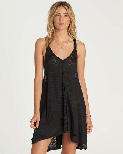 0 Twisted View T-Back Sun Dress Black XV04NBTW Billabong