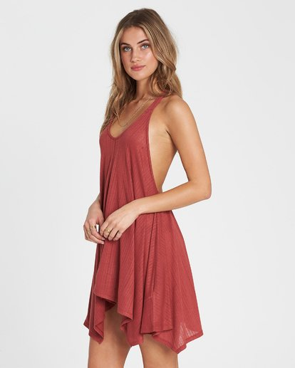1 Twisted View T-Back Sun Dress Red XV04NBTW Billabong