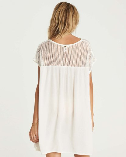2 Meshin Around Cover Up Dress White XV05NBME Billabong