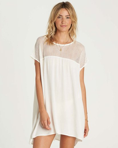 0 Meshin Around Cover Up Dress White XV05NBME Billabong