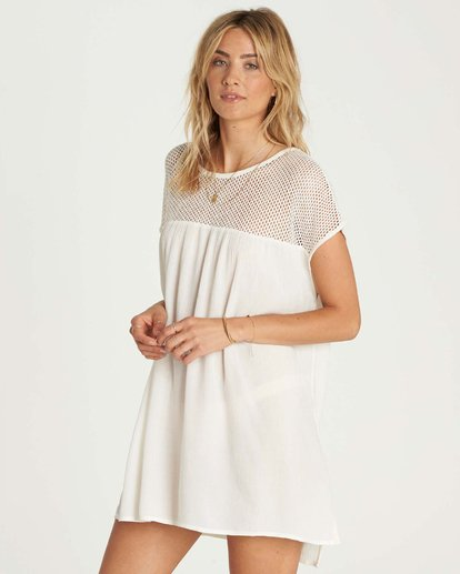 1 Meshin Around Cover Up Dress White XV05NBME Billabong