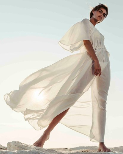 0 Sandy Shores Maxi Dress Cover Up White XV05TBSA Billabong