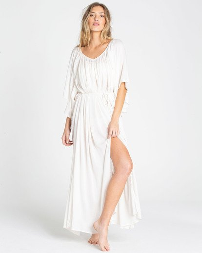 1 Sandy Shores Maxi Dress Cover Up White XV05TBSA Billabong