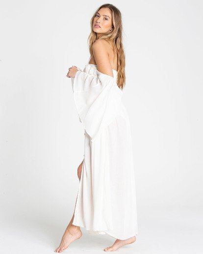 2 Sandy Shores Maxi Dress Cover Up White XV05TBSA Billabong