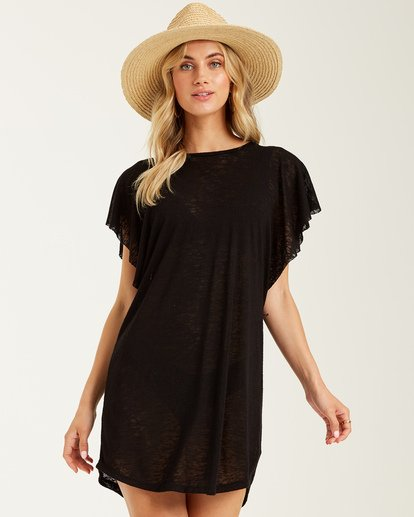 0 Out For Waves Cover Up Black XV07TBOU Billabong