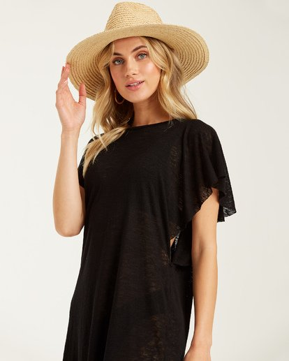 1 Out For Waves Cover Up Black XV07TBOU Billabong