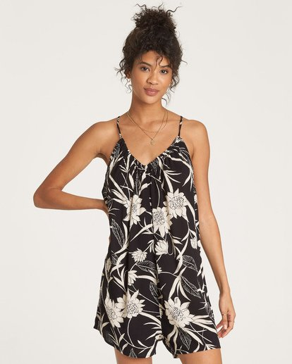 0 Del Sur Romper Cover Up Black XV07UBDE Billabong