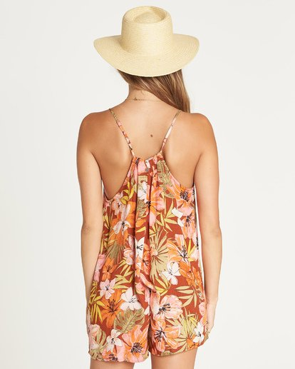 2 Del Sur Romper Cover Up Brown XV07UBDE Billabong