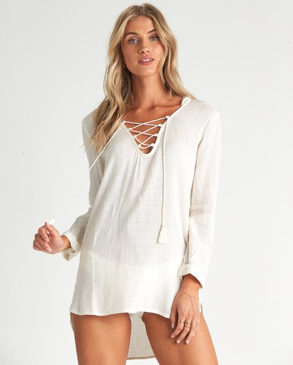 0 Same Story Swim Cover Up White XV081BSA Billabong