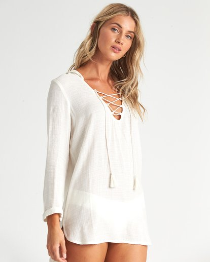 2 Same Story Swim Cover Up White XV081BSA Billabong