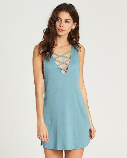 0 Lost At Sea Cover Up Dress  XV12PBLO Billabong
