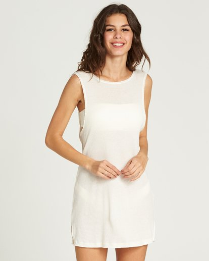 4 Lost At Sea Cover Up Dress White XV12PBLO Billabong