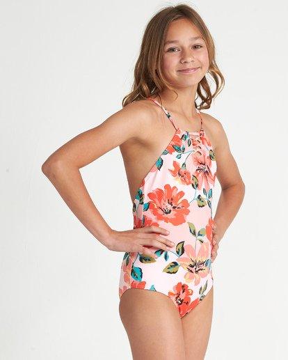 1 Girls' Beach Bliss One Piece Grey Y1011BBE Billabong