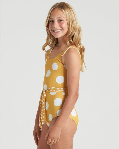 3 Girls' 4Ever Sun One Piece Swim Grey Y1013B4E Billabong