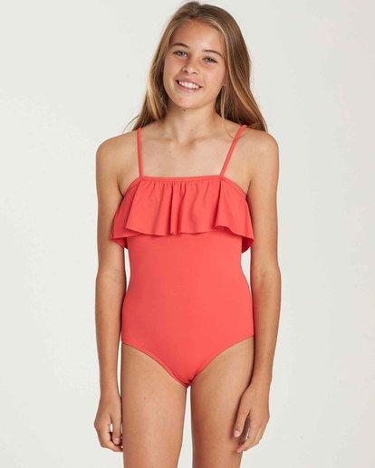 0 Girls' Sol Searcher One Piece Swim Red Y101QBSO Billabong