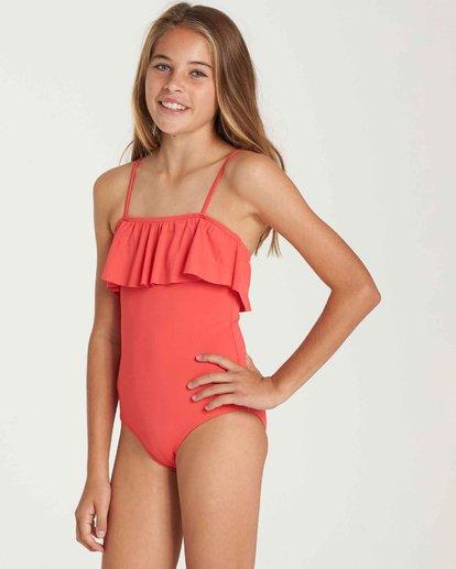 1 Girls' Sol Searcher One Piece Swim Red Y101QBSO Billabong