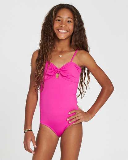 3 Girls' Sol Searcher One Piece Swim Pink Y101SBSO Billabong