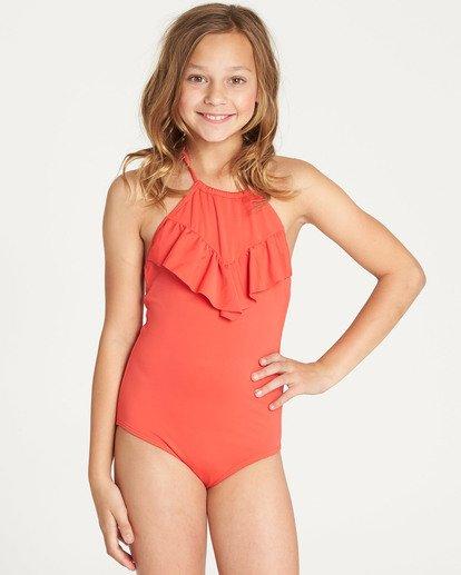 0 Girls' Sol Searcher One Piece Swim Red Y101TBSO Billabong