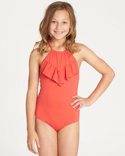 3 Girls' Sol Searcher One Piece Swim Red Y101TBSO Billabong