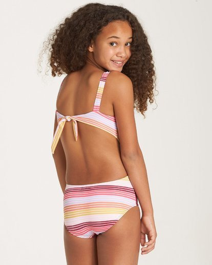 2 Girls' Ray Of Sun One Piece Grey Y101WBRA Billabong