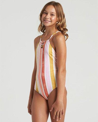 2 Girls' So Stoked One Piece Swim Grey Y1023BSO Billabong