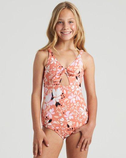 0 Girls' Petal Party One Piece Swim Multicolor Y1033BPE Billabong