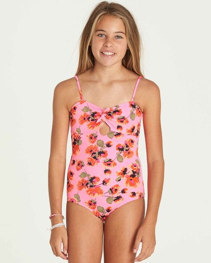 0 Girls' Bella Beach One Piece Swim  Y104PBBE Billabong