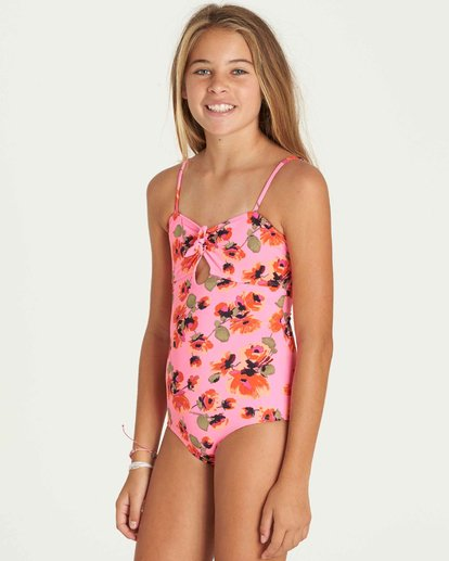 1 Girls' Bella Beach One Piece Swim  Y104PBBE Billabong