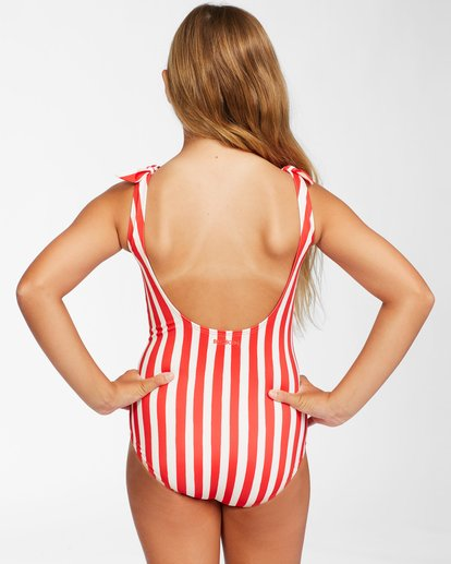 2 Girls' Free Babe One Piece Red Y1062BFR Billabong