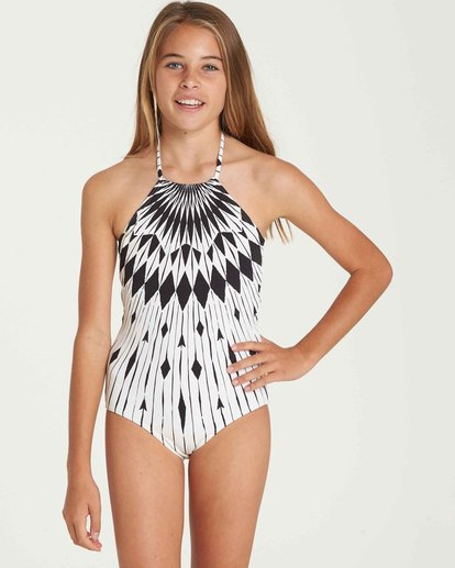 0 Girls' Sundial One Piece Swim Black Y106QBSU Billabong