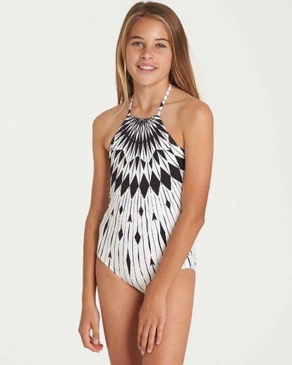 1 Girls' Sundial One Piece Swim Black Y106QBSU Billabong