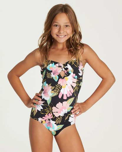 3 Night Bloom One Piece Swim Grey Y106UBNI Billabong