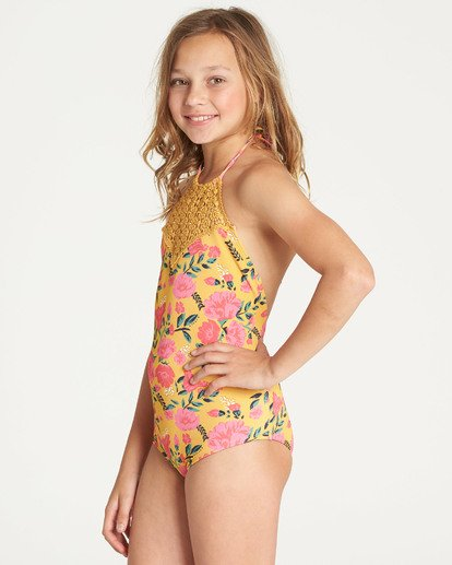 1 Girls' Sun Dream One Piece Swim Grey Y109TBSU Billabong