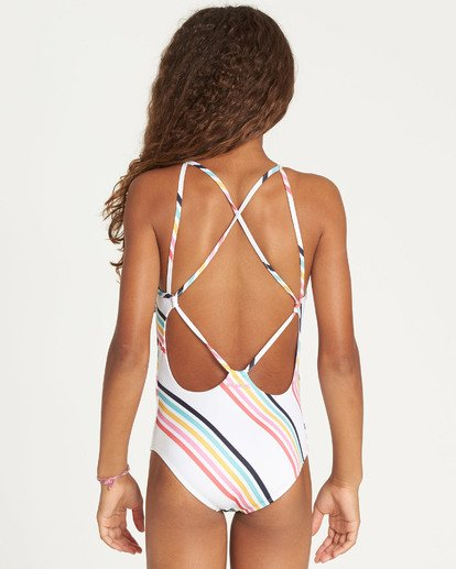 2 Girls' Seeing Rainbows One Piece Swim  Y111TBSE Billabong