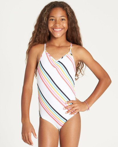 0 Girls' Seeing Rainbows One Piece Swim  Y111TBSE Billabong
