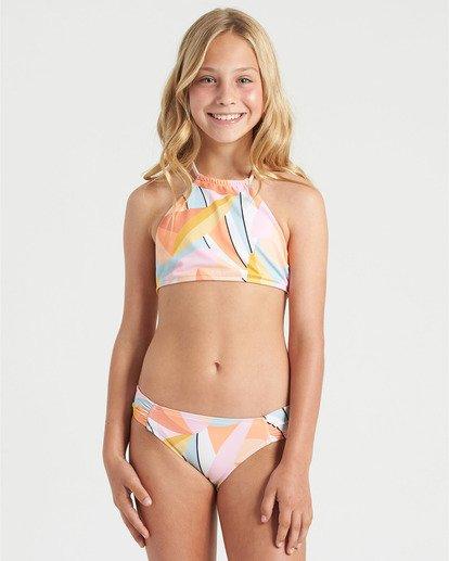 0 Girls' Warm Days High Neck Bikini Set Grey Y2013BWA Billabong