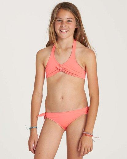 1 Girls' Sol Searcher Halter Swim Set Pink Y201NBSO Billabong
