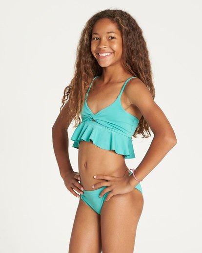 1 Girls' Sol Searcher Ruffle Bikini Set Green Y201TBSO Billabong