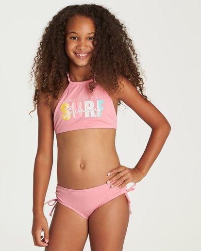 0 Sol Searcher High Neck Bikini Set Pink Y201UBSO Billabong