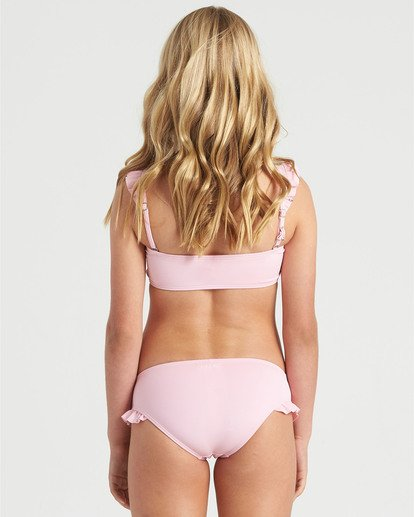 1 Girls' Warm Days Ruffle Tri Bikini Set Multicolor Y2023BWA Billabong