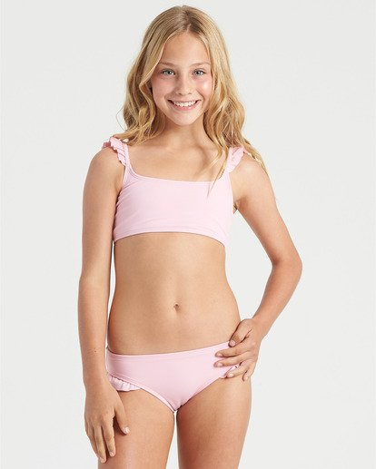 0 Girls' Warm Days Ruffle Tri Bikini Set Multicolor Y2023BWA Billabong