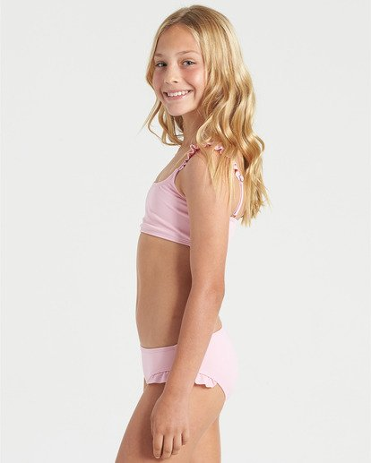 2 Girls' Warm Days Ruffle Tri Bikini Set Multicolor Y2023BWA Billabong