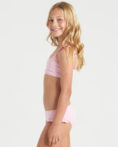 4 Girls' Warm Days Ruffle Tri Bikini Set Multicolor Y2023BWA Billabong