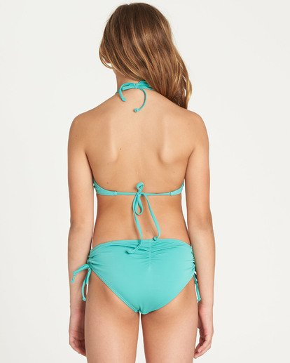 3 Girls' Sol Searcher High Neck Bikini Set Green Y202TBSO Billabong